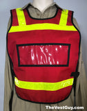Red Pull Over Vest with Yellow Reflective by The Vest Guy