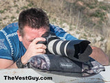 Camo Camera Lens Pillow by TheVestGuy