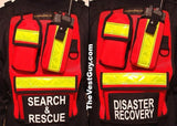 Search & Rescue Reflective Chestpack / Disaster Recovery Chest Pack