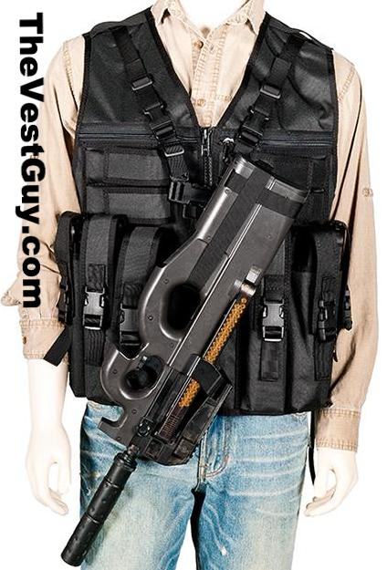 Black P90 Vest by The Vest Guy