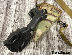 MOLLE Drum Pouch - ProMag SKU:DRM-A27.  - Fits Glock Model 17 and 19  9MM Drums, With Carry Strap, Made in USA
