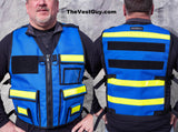 Range Safety Officer Vest Blue Velcro