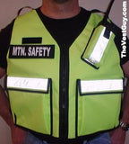 Reflective Vest by pockets and radio pouch