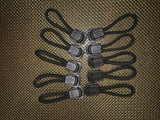 Zipper Pull Silencers in black, coyote, olive drab