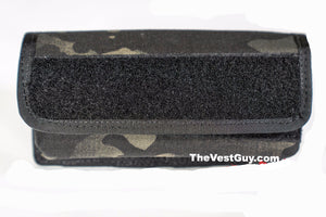 7x3 MOLLE pouch by The Vest Guy, Black Rectangle Pocket