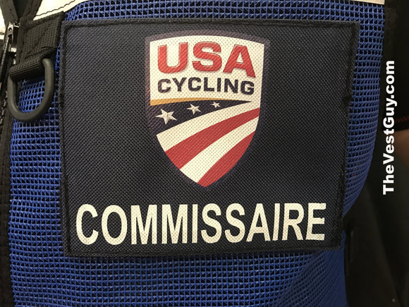 USA Cycling COMMISSAIRE Name Tags