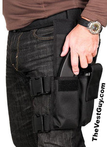 AK 47 Tactical Double Mag Leg Pouch