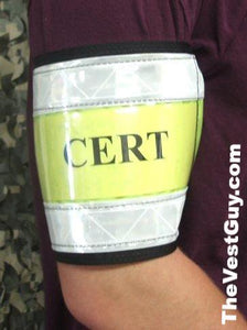 reflective armband with clear placard sleeve