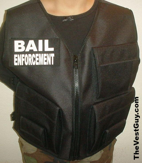 Black Bail Enforcement Vest