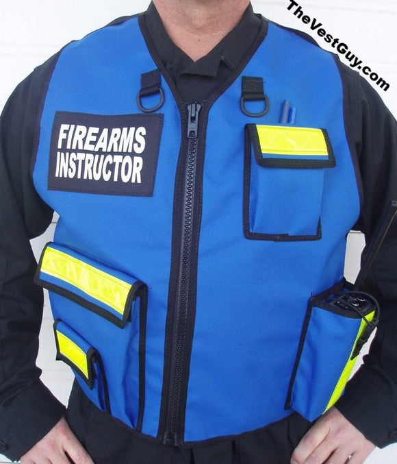 Blue Firearms Instructor Vest by The Vest Guy