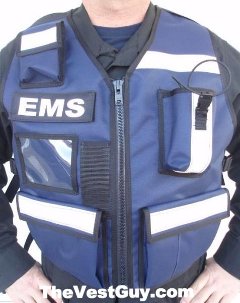 Blue Reflective EMS vest by The Vest Guy