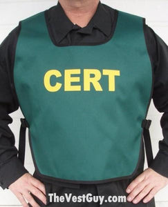 Green CERT Pull Over Vest