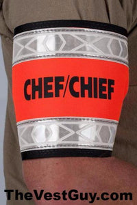 CHEF / CHIEF armband with reflective - custom reflective armband