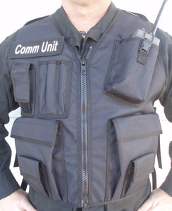 black communications unit vest