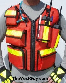 Reflective vest with radio pockets
