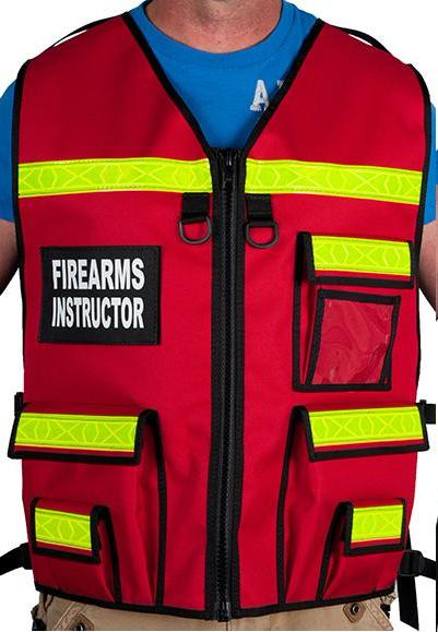 Red Firearms Instructor Vest by TheVestGuy