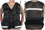 Black Mesh Flight Medic Vest