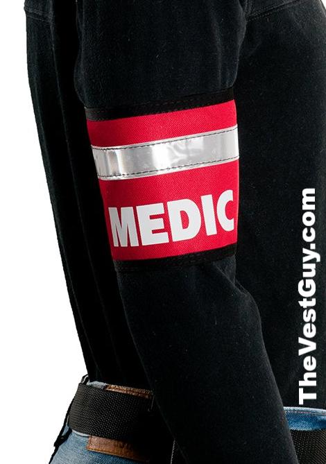 Red Medic armband with reflective