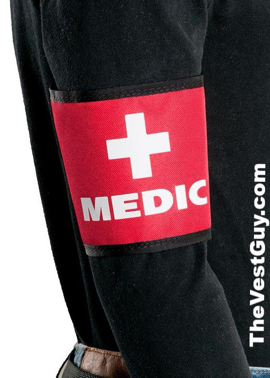 Red Medic Armband - Custom armbands by TheVestGuy.com