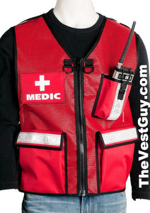 Red Medic Vest with reflective