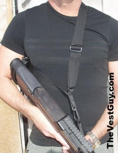 Black 3 point p90 sling by The Vest Guy