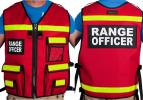 Red Reflective Range Officer Vest