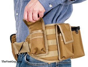 MOLLE Pouch Belt - Safari Belt with MOLLE in coyote