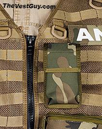 Camo MOLLE cell phone pouch by The Vest Guy