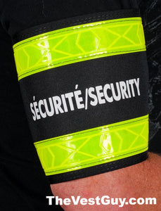 SECURITY high visibility reflective armband