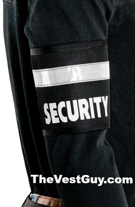Black security armband with reflective