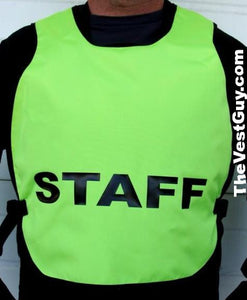 Staff High Visibility Pullover Safety Vest