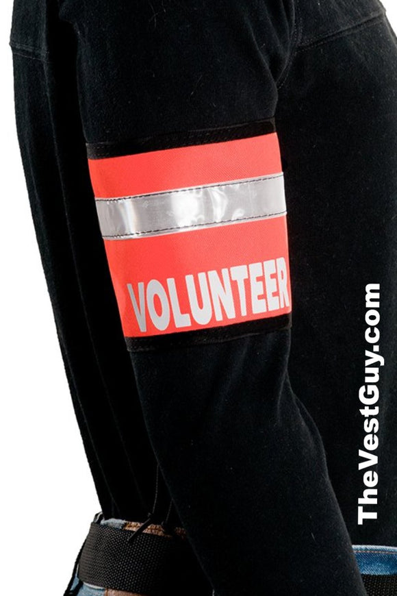 Orange volunteer reflective armband
