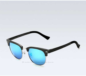 Alloy Polarized Half-Frame Men's Sunglasses