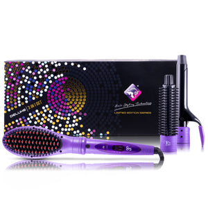 Deluxe 3 In 1 Styling Set - Purple - RoyaleUSA
