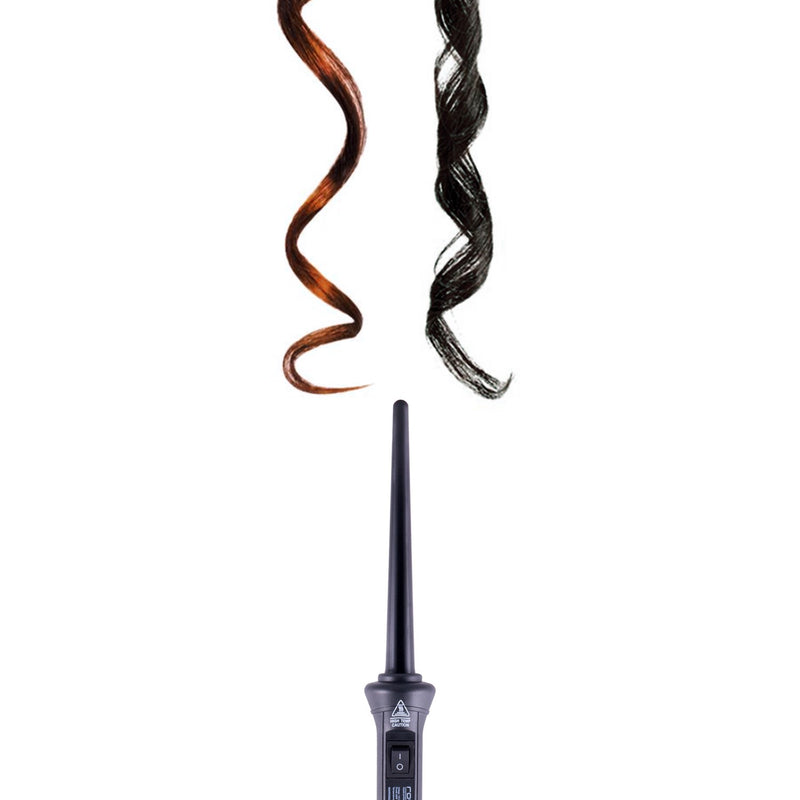 Royale Black Baby Curls 9mm Tourmaline Curling Wand