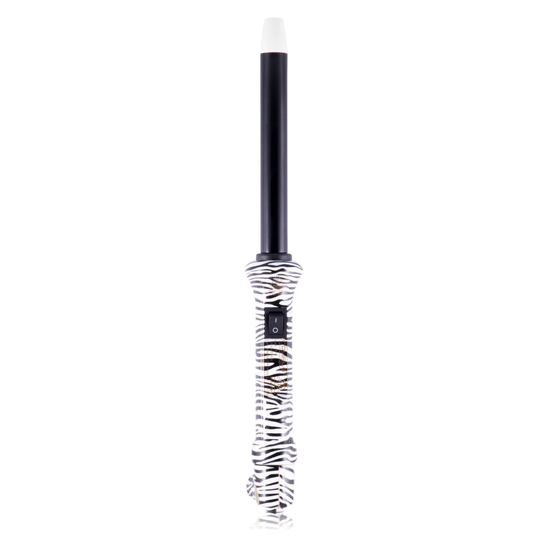 Cool Tip Tourmaline Curling Wand - Zebra Print - RoyaleUSA