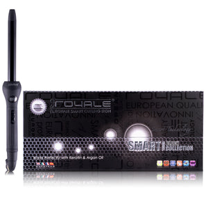 Cool Tip/Soft Touch Tourmaline Curling Wand 19MM - Black - RoyaleUSA