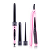 Flat Iron/Curling Wand Duet Set - Pink Stripes - RoyaleUSA