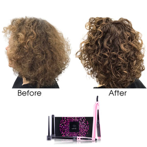 Royale Pink Stripes Flat Iron/Curling Wand Duet Set - RoyaleUSA