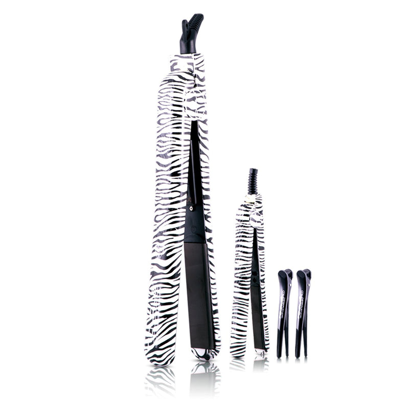 Soft Touch Metro Straightener Set - Zebra - RoyaleUSA
