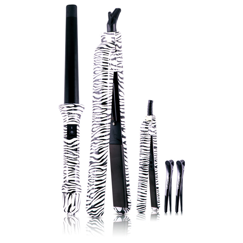 Straightener Full Set - Zebra Print - RoyaleUSA