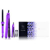 Royale Full Set Purple Lilac 100% Ceramic Plates Straightener, Mini Straightener and Curling Wand