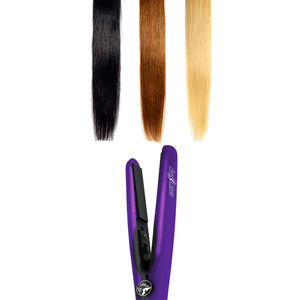 Mini Flat Iron 0.5″ Ceramic Tourmaline – Purple - RoyaleUSA