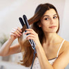 Ceramic Tourmaline Vapor Styling Hair Straightener with Argan Infusion Oil - Black - RoyaleUSA