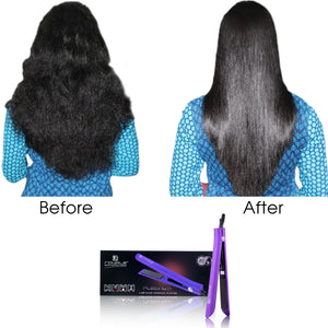 Platinum Genius Heating Element Hair Straightener with 100% Ceramic Plates - Deep Purple - RoyaleUSA