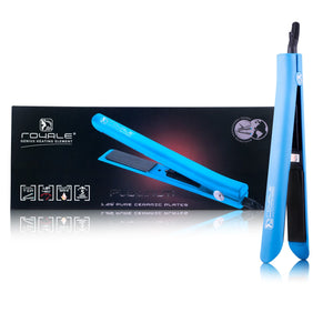 Platinum Genius Heating Element Hair Straightener with 100% Ceramic Plates - Baby Blue - RoyaleUSA
