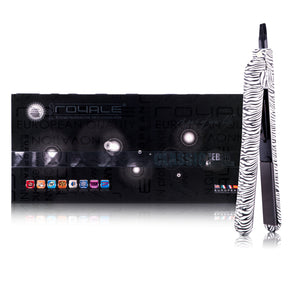 Classic Print 100% Ceramic Tourmaline Plates Soft Touch Hair Straightener - Zebra Print - RoyaleUSA