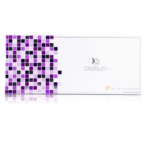 Classic Print 100% Ceramic Tourmaline Plates Soft Touch Hair Straightener - Purple Leopard - RoyaleUSA