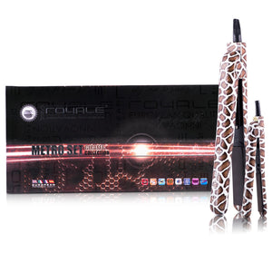 Pretty in Print Metro 100% Ceramic Plates Hair Straightener Set - Giraffe - RoyaleUSA