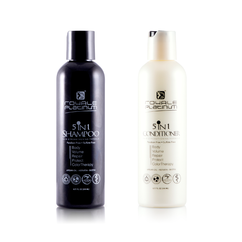 Royale Organic Argan Oil Infinity Pro 5 in 1 Shampoo & Conditioner - RoyaleUSA